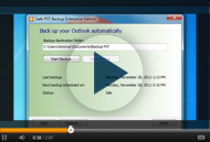 Safe PST Backup Options available from user interface
